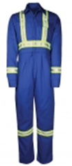 UNLINED HIVIS WORK COVERALL-