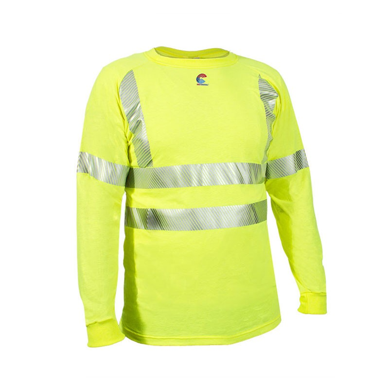 NSA HRC 1 Class 2 Hi-Vis Long Sleeve T-Shirt with 3M FR Segmented Trim -