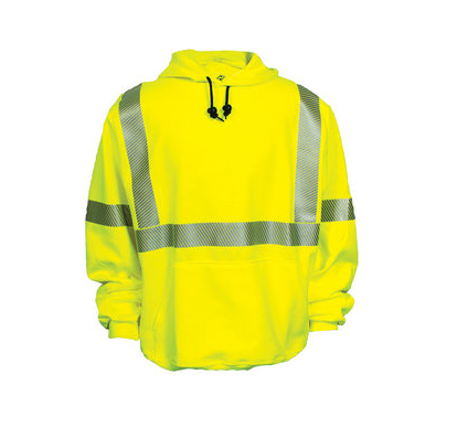 NSA Flame Resistant High Visibility Hooded Sweatshirt-AFR