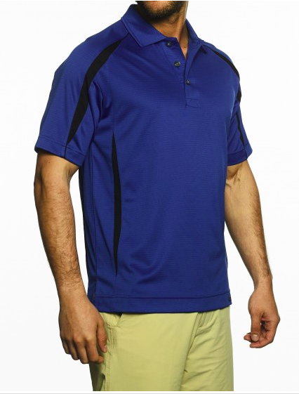 Men's Short Sleeve Color Block Polo (ELITE)-Pro-Celebrity