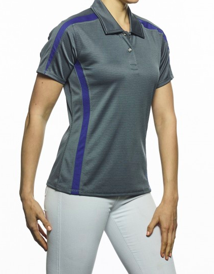 Ladie's Short Sleeve Color Block Polo (TITAN)-Pro-Celebrity