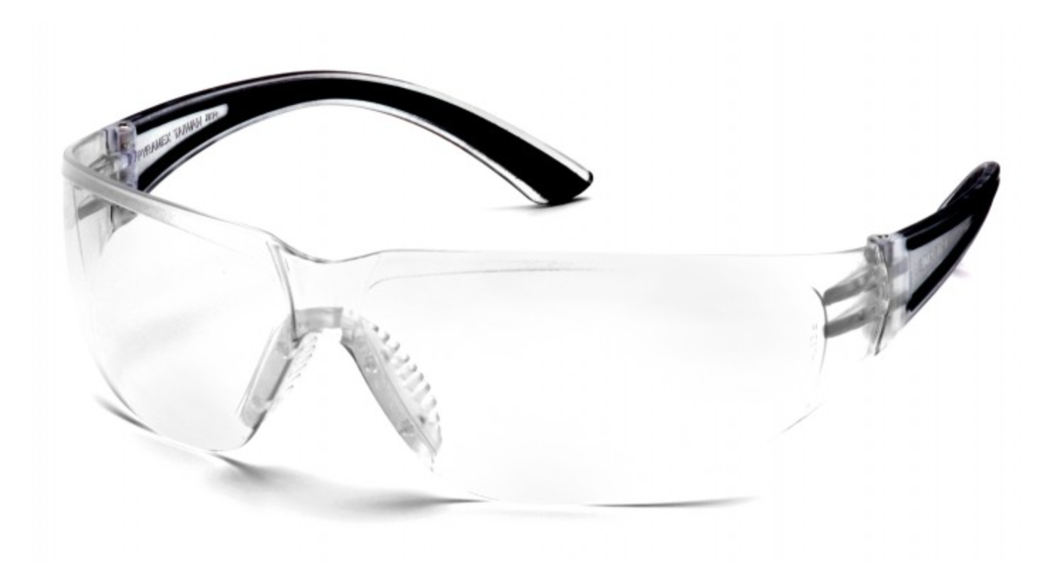 Pyramex Cortez Clear H2X Anti-Fog Lens Safety Glasses-