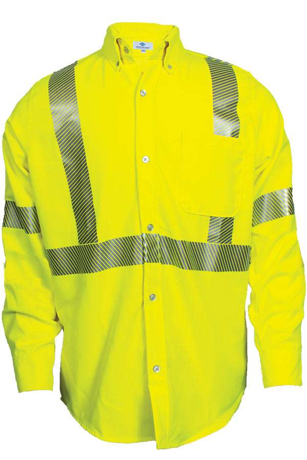VIZABLE FR HI-VIS WORK SHIRT - TYPE R CLASS 3-National Safety Apparel