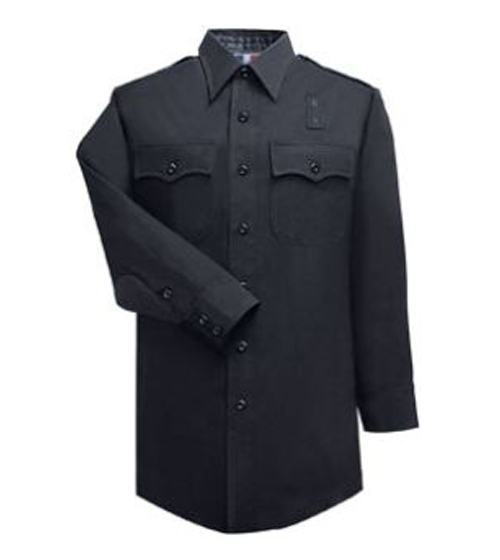 Women's 100% Wool LAPD Navy Long Sleeve Shirt-Flying Cross