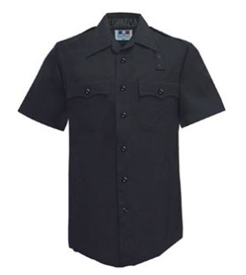 Women's LAPD Navy Short Sleeve Shirt, 100% Wool-Flying Cross