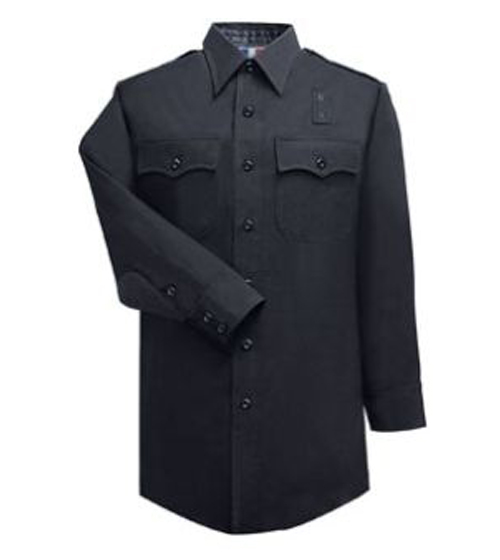 Men's 100% Wool LAPD Navy Long Sleeve Shirt-Flying Cross