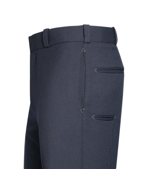 Men's LAPD Navy T-6 Trouser, LA-Style Side Seam Pocket,  75/25 Polyester/Wool-Flying Cross