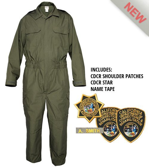 TRANSCON CDCR JUMPSUIT 1-PIECE Including PATCHES, NAME TAPE and STAR-Other Brands