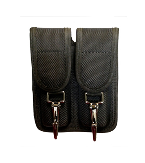 NYLON Double Mag Holder - With Two Metal Clips-Other Brands