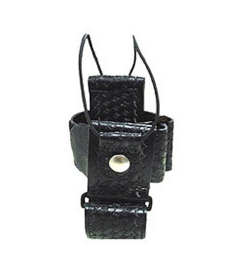 Multi-Adjustable Radio Holder LEATHER w/ Swivel Attachment-Boston Leather