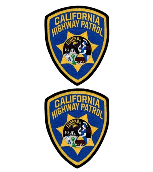 CHP Shoulder Patches/Emblems - 2 Pack