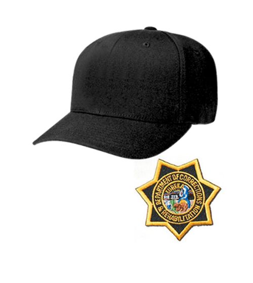 CDCR Academy Cap - BLACK, Star Badge included and sewn on-Other Brands