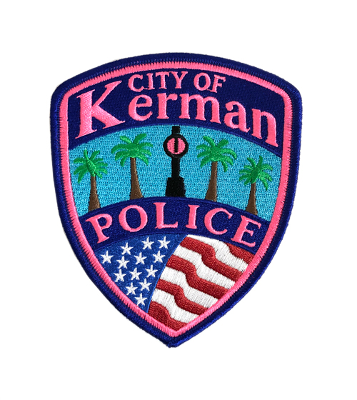 City of Kerman Police Pink Patch - ID required please see below-Other Brands