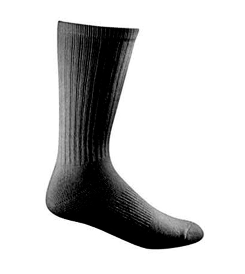 3 Pack - Cotton Duty Sock - BLACK-Bates Footwear