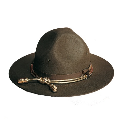 Campaign Style Hat, Felt, Tan-Other Brands