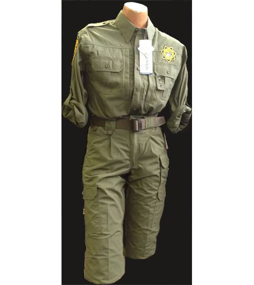 PROPPER CDCR JUMPSUIT 2-PIECE including PATCHES, NAME TAPE and STAR