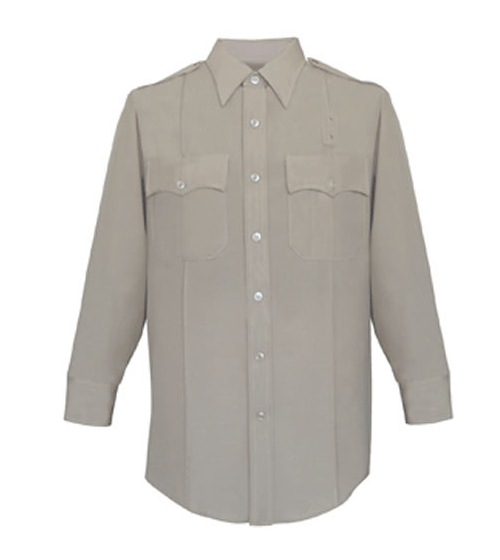 Long Sleeve Deluxe Tropical Shirt Womens Silver Tan Optional CA State Parks Patches-Other Brands