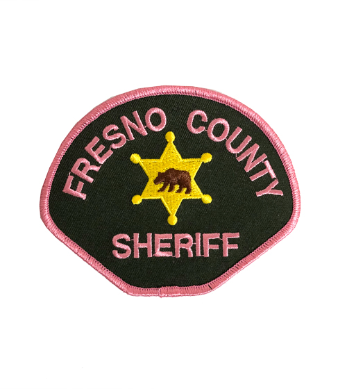 Fresno County Sheriff Pink Patch - ID required please see below-Other Brands