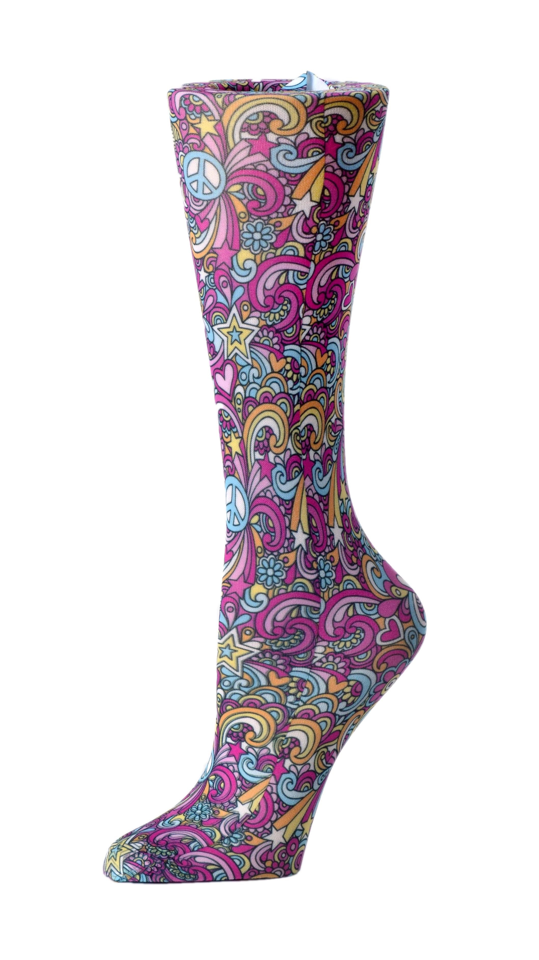 60's Peace - Cutieful Compression Socks-Cutieful