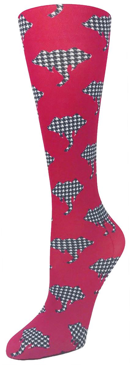 Alabama Houndstooth - Cutieful Compression Socks-Cutieful