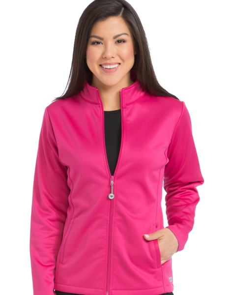 BONDED FLEECE MED TECH JACKET-Med Couture