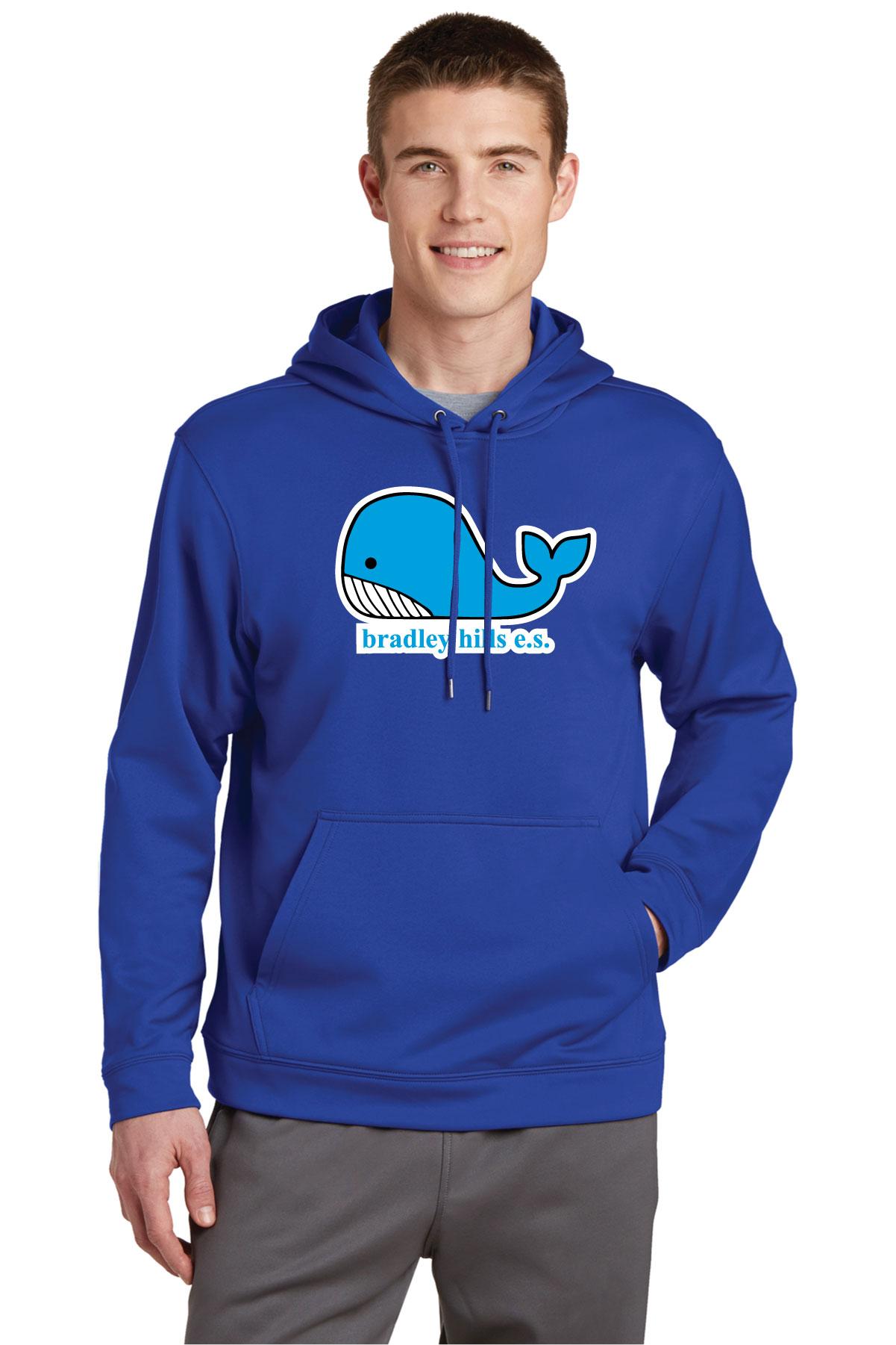 Sport-Tek® Sport-Wick® Fleece Hooded Pullover.-Sport-Tek