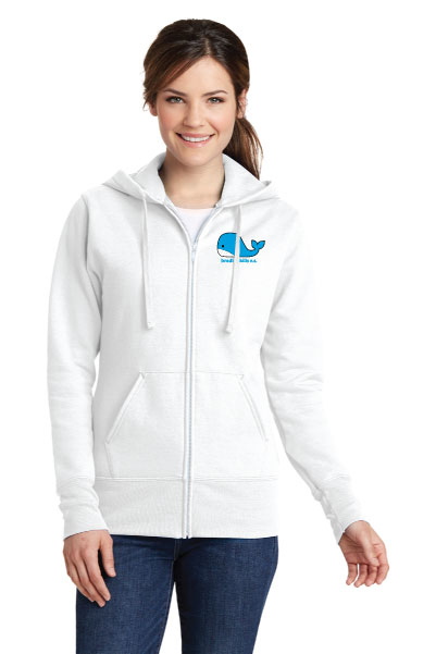 Port & Company® Ladies Core Fleece Full-Zip Hooded Sweatshirt.-Port & Company