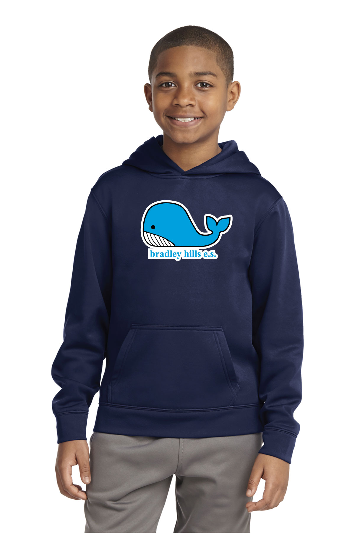 BHES Youth Sport-Wick® Fleece Hooded Pullover.-Sport-Tek