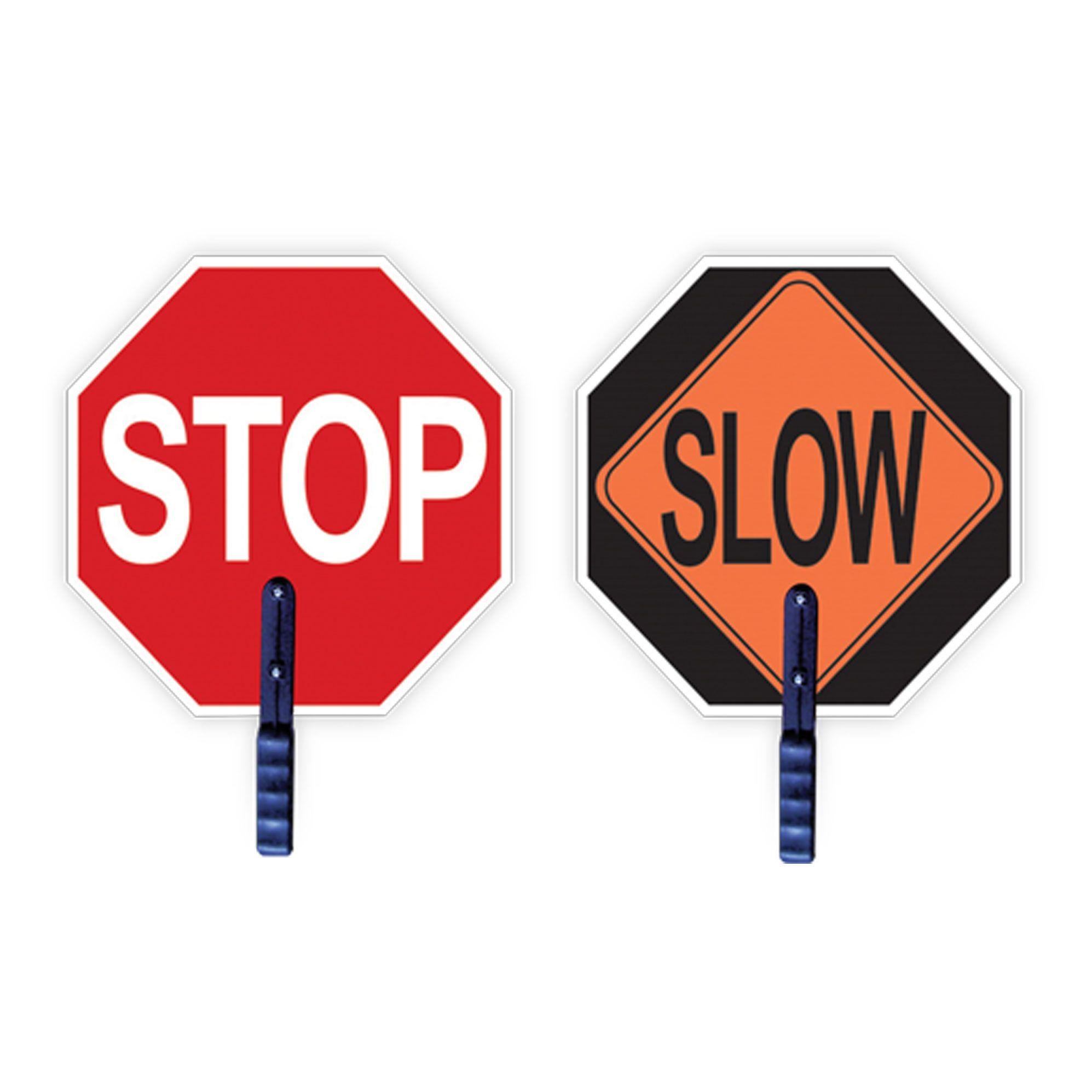 Engineering Grade Traffic Safety Paddle - Stop/Slow-2W International