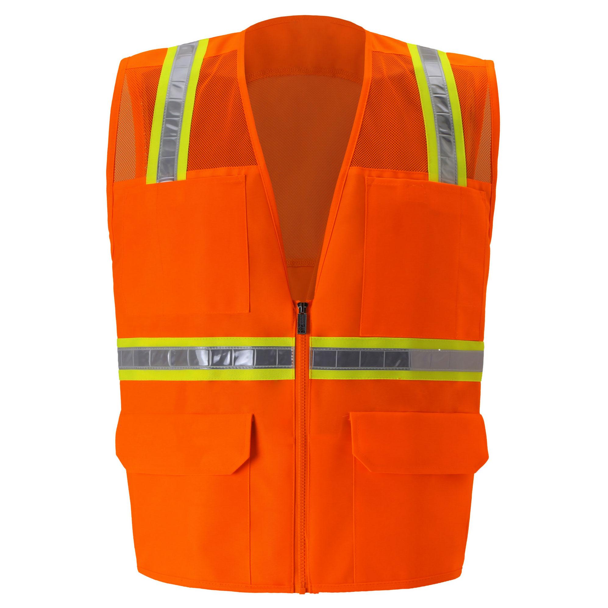 Multi-Pocket Mesh Safety Vest-
