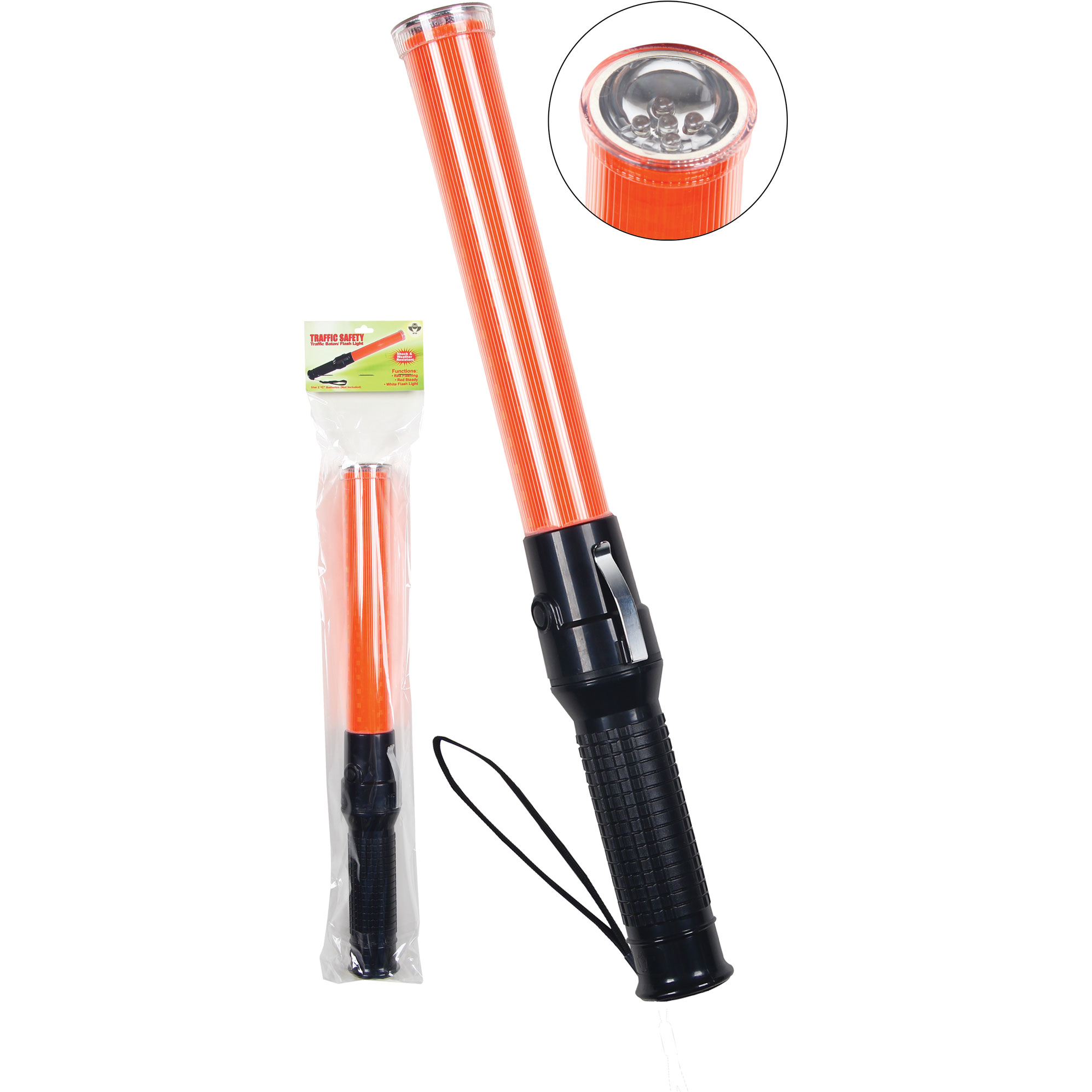 High Intensity LED Traffic Baton with Flashlight-2W International
