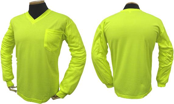 Long Sleeve High Viz Birdseye T-Shirt-
