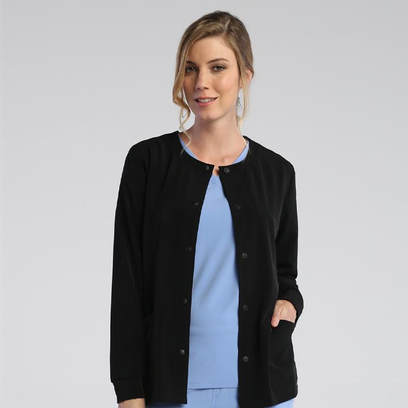 Ladies Basic Snap Jacket-IRG Elevate