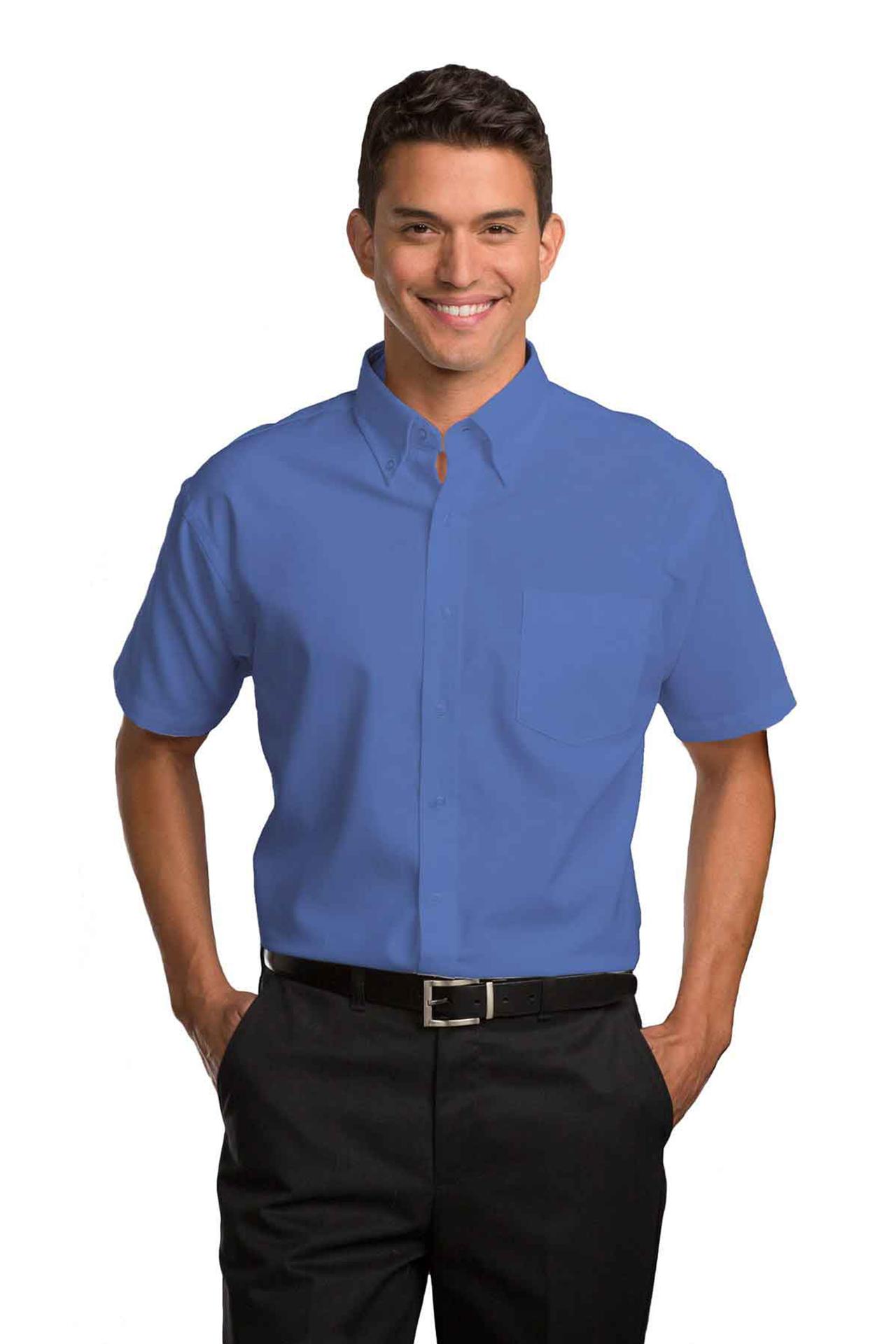 Mens Short-Sleeve Oxford Shirt-