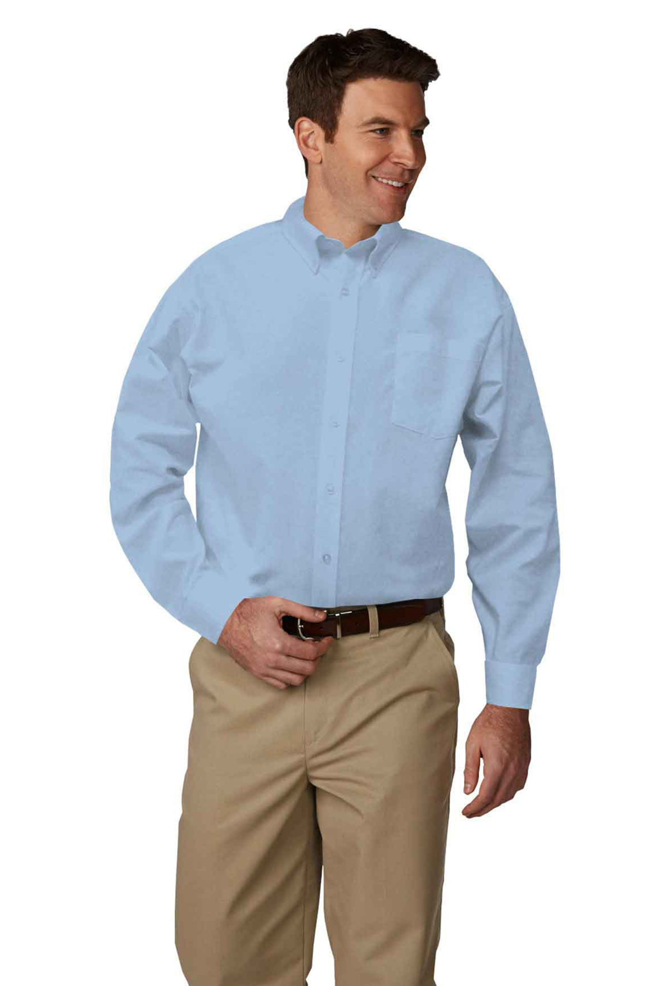 Mens Long-Sleeve Oxford Shirt-A Plus