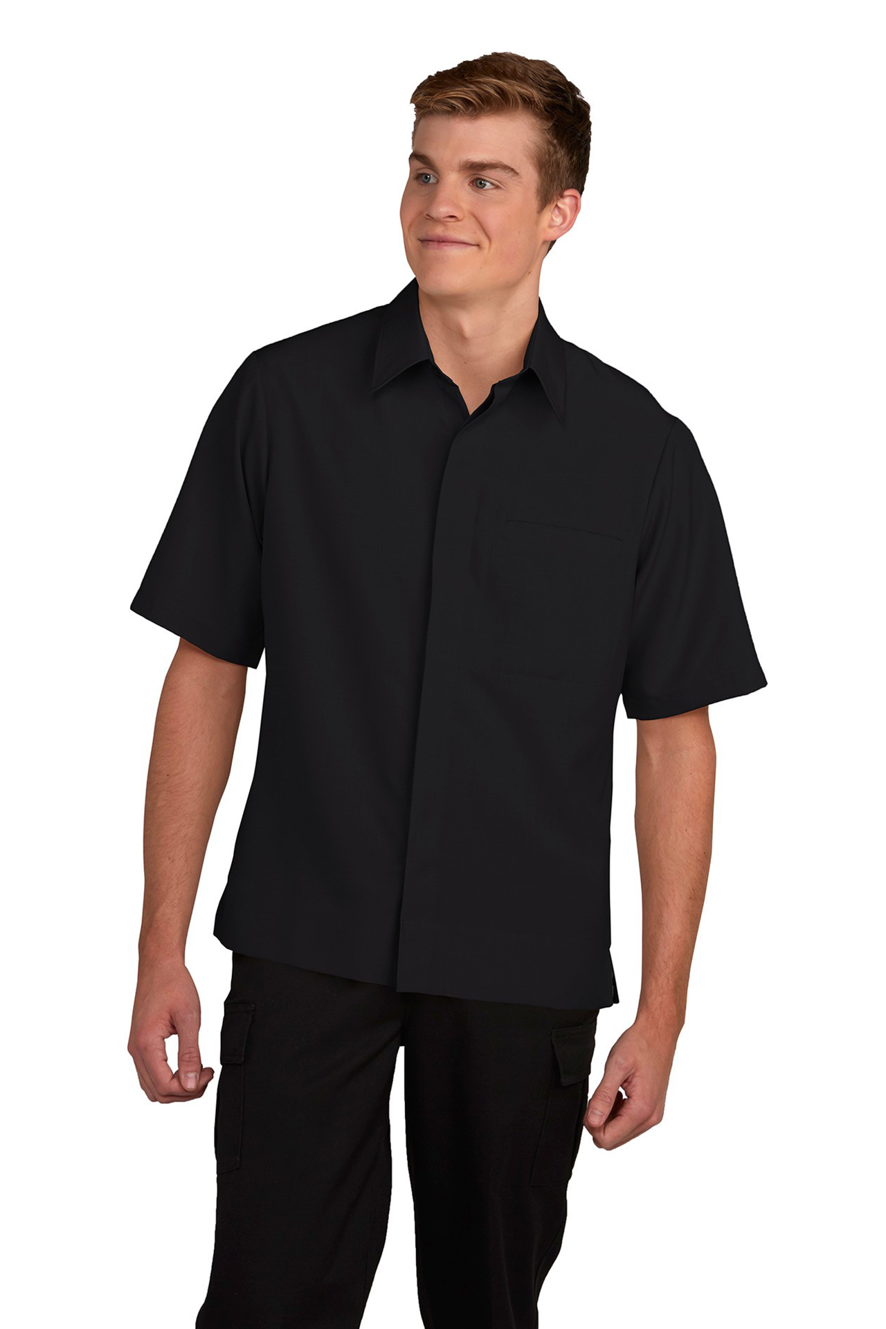 Mens Hospitality Camp Shirt, Spread Collar-A Plus