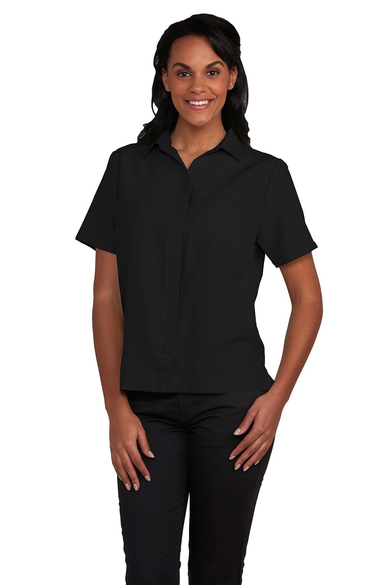 Womens Hospitality Camp Shirt, Spread Collar-A Plus