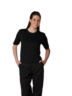 Womens Fine-Gauge Short-Sleeve Shell-A Plus