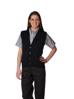 Unisex V-Neck 4-Button Cardigan Vest