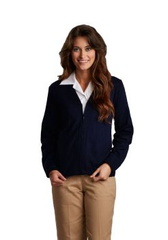 Womens Fine-Gauge Zip-Front V-Neck Cardigan-A Plus