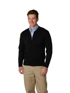 Unisex Heavyweight Zip-Front Crewneck Transit Cardigan-A Plus