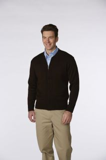 5510 Unisex Heavyweight Zip-Front Crewneck