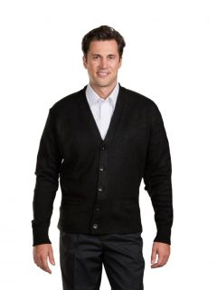 Unisex Heavyweight V-Neck Transit Button Cardigan-A Plus