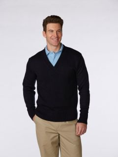 Unisex Heavyweight Jersey V-Neck Pullover Sweater-A Plus