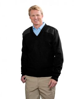 Unisex Jersey V-Neck Commando Sweater,Wool Blend