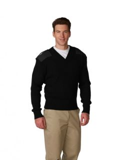 Unisex 2�2 Heavy Rib V-Neck Commando Sweater-A Plus