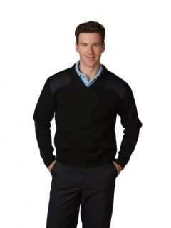 Unisex Fleece-Lined V-Neck Commando Sweater-A Plus