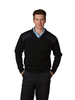 Unisex Fleece-Lined V-Neck Commando Sweater