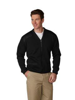 Unisex Fleece-Lined Zip-Front V-Neck Commando Cardigan