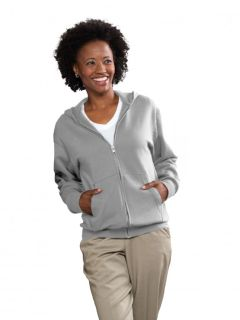 Unisex Full-Zip Hooded Fleece Sweatshirt-A Plus